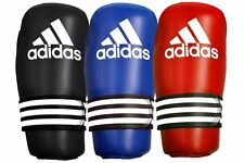 Adidas Kick Boxing Gloves Pro Blue Red ITF WAKO Pointfighter Open Palm Gl