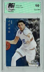 Liangelo Ball 2018 Leaf #PR-47 Only 99 Made 1st Card Ever Rookie Card PGI 10