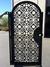 Metal Art Gate Italian Pedestrian Walk Thru Entry Iron Steel Garden Made in USA