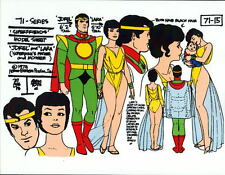 CHALLENGE Of The SUPER FRIENDS : JOR-EL & LARA-EL MODEL SHEET Superman ALEX TOTH