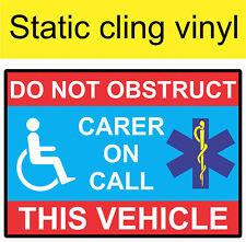 Grand Statique Accrocher soignant sur appel motability Home DISABLED BLUE Mobilité badge