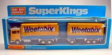 "MATCHBOX Superking k-21d FORD Transcontinental ""weetabix"" Giallo & BLU IN BOX"