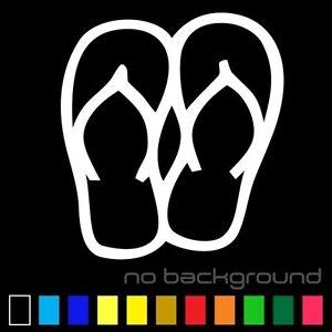 Flip Flops Sticker Vinyl Decal - Beach Sandals Tropical Summer Shoes Car Window