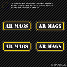 (4x) AR Mags Ammo Can Sticker Set Decal Self Adhesive molon labe mag ar15 type 2