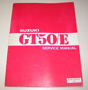 Manual de Servicio Suzuki Gt 50 / E - Edition 1979