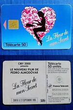 TELECARTE 50-FRANCE TELECOM-1995-LA FLEUR DE MON SECRET-P.ALMODOVAR-CIBY 2000-//