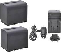 Dual 7800 mAh Battery w/ Charger for Sony HXR-MC1500 HXR-MC2000 HXR-NX5