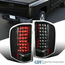 Chevy 07-14 Silverado 1500 Pickup Black LED Rear Tail Lights Brake Lamps Pair