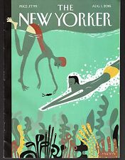"""The New Yorker Magazine August 1, 2016 """"Beneath the Waves"""" by Frank Viva  VGood"""