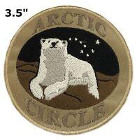 Arctic Circle Polar Bear Park Patch Souvenir Travel Embroidered Iron / Sew-on