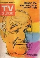 1971 TV Guide March 6; Broderick Crawford; Alias Smith and Jones; Dinah Shore