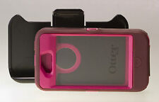 New Otterbox Defender Series Case & Belt Clip for Apple iPhone 4s Plum Pink NICE