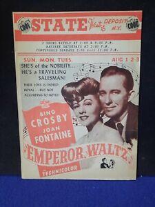 "Bing Crosby & Joan Fontaine Theatre Herald ""Emperor Waltz"" + Garland & Astaire"