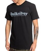 Quiksilver Mens T-Shirt Black Size XL Twin Fin Mates Crewneck Graphic Tee 412