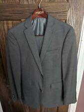 Alfani Macys Mens Suit 2 Piece Gray Wool - Blazer Jacket 2 Button 36R Pants 32
