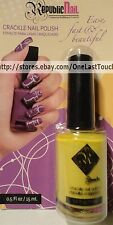 REPUBLIC NAIL~Crackle Nail Polish BRIGHT YELLOW Overcoat Enamel .5 oz/15 mL