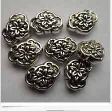 10pcs Tibetan silver heart flowers Spacer bead 10x13mm