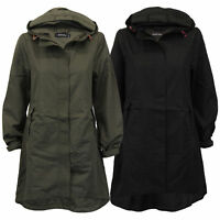 Ladies Kagool Jacket Brave Soul Womens Long Coat Hooded Cagoule Summer New