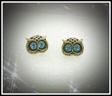 Pretty Big Eyed Orecchini a Perno Civetta, luccicante, blu, moda, idea regalo, Orecchini, BELLA