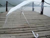 Transparent Clear Automatic Rain Umbrella Parasol For Wedding Party Favor hot