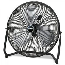 High Velocity Metal Blade Industrial Fan Electric 3 Speed Powerful Air Flow New