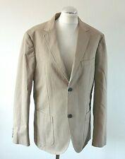 HOWICK Beige Two Button Cotton Casual Blazer Jacket UK 40 R