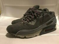Nike Air Max 90 Black/Red/Gray Size 9.5 VERY LIGHT Preowned (See Photos)