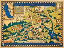 1920 pictorial map POSTER Bird's-eye-view Mills College Oakland California 11188