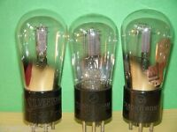 3 Engraved #27 Vacuum Tubes   Results =  48 45 43