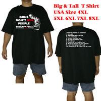 Big and tall T shirt men Guns Don't Kill People cotton tee 4XL 5XL 6XL 7XL 8XL