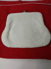 New listing Vintage Bags By Debbie - Micro Beaded Evening Bag White