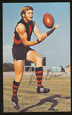 1971 Mobil Essendon Barry Davis card number 18 Bombers Footy Photos