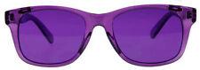 Hipster Mens Designer Poker Sunglasses Purple Violet Frame/Lens Retro Wayfarer