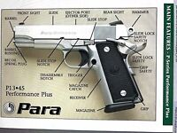 PARA-ORDNANCE PISTOL HANDGUN Owners Manuals P-SERIES, LDA, PXT    SEE MORE BELOW