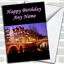 Amsterdam Birthday Customised Card
