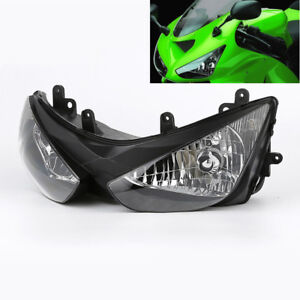 Front Headlight Head Lamp Assembly Fit For 2005 2006 Kawasaki Ninja ZX6R ZX636