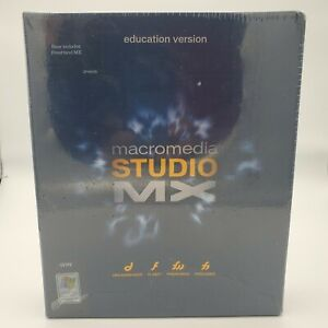 NEW SEALED 2002 Macromedia Studio MX Software Educational Version WIN & MAC