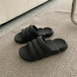 Thick Sole Home Slipper Platform Slides Soft EVA Couple Indoor Bathroom Footwear