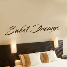 SWEET DREAMS DECOR DECAL STICKER WALL ART GRAPHIC VARIOUS COLOUR