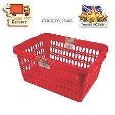 Wham Red Set of 2 Large Plastic Handy Fruit Vegetable Basket Kitchen Office Stor