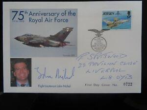 JERSEY 1993 75th ANNIV OF RAF LTD EDITION COVER SIGNED BY FL JOHN NICHOL