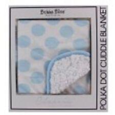Bubba Blue Polka Dot Reversable Cuddle Baby Blanket Warm Soft Cuddle