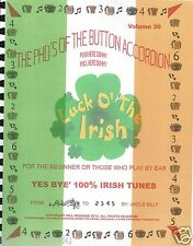 """YES BYE' 100% IRISH TUNES""  EASY LEARN/PLAY ON THE BUTTON ACCORDION"