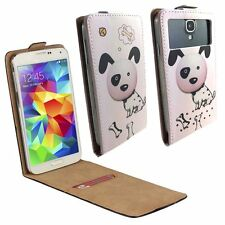 Mobile Flip Cover With Card Holder For Philips Xenium X588 - Dalmation M FLIP