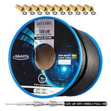 50m 135dB Stahl Kupfer SAT KOAXial Antennen KABEL 5 fach geschirmt FULL HDTV 4K