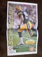 2000 Bill Schroeder - Green Bay Packers Newspaper Poster Wisconsin La Crosse