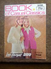 Vintage Knitting Pattern Book of Casual Classics Lee Target 9098 Ladies Baby