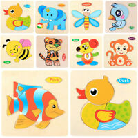 Learning Educational Baby Jigsaw Toy Puzzle Funny Toys Kids Wood Animal  Wooden