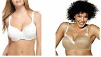 NWT! Playtex Love-My-Curves Underwire Balconette Nude/White 4823 Sz 36/38/42