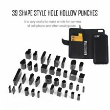 39 Shape Hole Hollow Cutter Punch Metal Leather Craft Diy Tool Phone rl